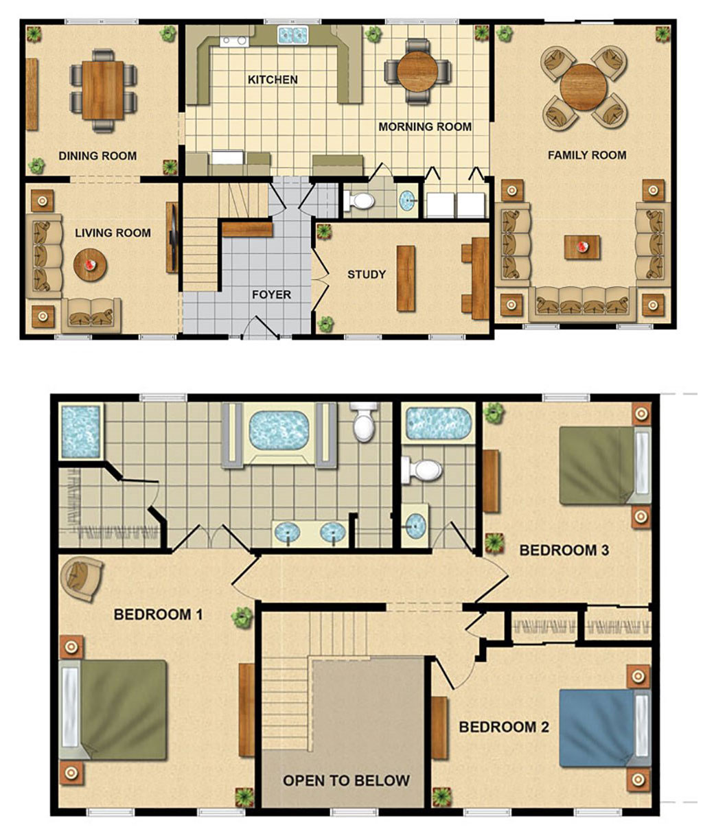 Modular floorplans ace home inc for 2 story floor plans