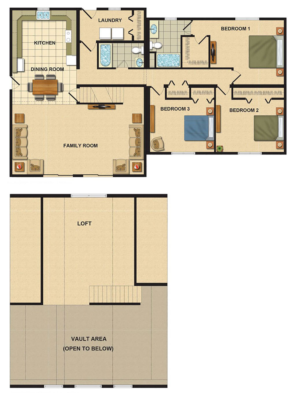 Modular floorplans ace home inc for Vacation floor plans